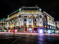 The city that never sleeps lit up by the famous London store. <br /> <br /> Info@cpgphotos.com<br /> Tel: 07525246273<br /> Twitter: @cpgphotos