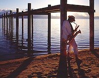 Lake Tahoe Landscape Saxophone Player