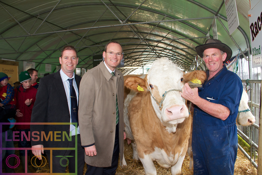 Lensmen Photographic Agency in Dublin, Ireland.<br /> The National Ploughing Championships, Athy, Co Kildare, Ireland.  ..Tuesday 20th - Thursday 22nd of September 2011. ...Picture were left to right;.....The National Ploughing Championships and the International Eucharistic Congress National in Ireland are celebrating their 80th anniversaries..