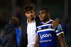 Anthony Watson and Semesa Rokoduguni of Bath Rugby look on after the match - Mandatory byline: Patrick Khachfe/JMP - 07966 386802 - 05/10/2018 - RUGBY UNION - The Recreation Ground - London, England - Bath Rugby v Exeter Chiefs - Gallagher Premiership Rugby