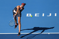 BEIJING, Oct. 3, 2018  Karolina Pliskova of Czech Republic serves during the women's singles second round match against Aliaksandra Sasnovich of Belarus at China Open tennis tournament in Beijing, China, Oct. 3, 2018. Karolina Pliskova won 2-0. (Credit Image: © Ju Huanzong/Xinhua via ZUMA Wire)
