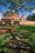 Sri Lanka.<br /> Polonnaruwa, the Vathadage (Image House).