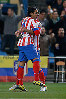 17.01.2013 SPAIN - Copa del Rey Matchday 1/2th  match played between Atletico de Madrid vs Real Betis Balompie (2-0) at Vicente Calderon stadium. The picture show  Radamel Falcao Garcia (Colombian striker of At. Madrid)