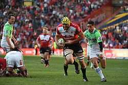 Lourens Erasmus scores during the semi final of the Vodacom Super Rugby 2016 season between the Lions and the Highlanders held at the Emirates Airline Park in Johannesburg, South Africa on the 30th July 2016Photo by Real Time Images