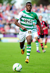 Yeovil Town's Gozie Ugwa - Photo mandatory by-line: Dougie Allward/Josephmeredith.com  - Tel: Mobile:07966 386802 08/09/2012 - SPORT - FOOTBALL - League 1 -  Yeovil  - Huish Park -  Yeovil Town v AFC Bournemouth