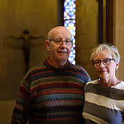 Date: 10/19/14<br /> Desk: NAT<br /> Slug: CATHOLICS<br /> Assign Id: 30165466A<br /> <br /> Colleen Maiers (whose previous marriage ended in divorce) and her husband of 24 years, David McKiernan, pose for a portrait at The Basilica of St. Mary Catholic church in Minneapolis, Minnesota on October 19, 2014 after attending 7:30 am mass. They have been attending the church since 1998.<br /> <br /> *ACCESS NOTE: Basilica denied access to photograph during mass<br /> <br /> Photo by Angela Jimenez for The New York Times <br /> photographer contact 917-586-0916