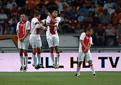 04-08-2007 VOETBAL: LG AMSTERDAM TOURNAMENT: AJAX - ARSENAL: AMSTERDAM<br /> Ajax verliest met 1-0 van Arsenal / Muurtje met Heitinga, Huntelaar, Maduro en Sneijder<br /> &copy;2007-WWW.FOTOHOOGENDOORN.NL
