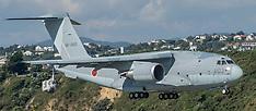 Wellington-Japan Air-Self Defense Force Kawasaki C-2 makes flying visit