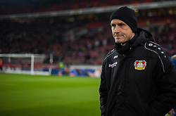 December 8, 2017 - Stuttgart, Germany - Leverkusens coach Heiko Herrlich watches his team warming up during the Bundesliga match between VfB Stuttgart and Bayer 04 Leverkusen at Mercedes-Benz Arena on December 8, 2017 in Stuttgart, Germany. (Credit Image: © Bartek Langer/NurPhoto via ZUMA Press)
