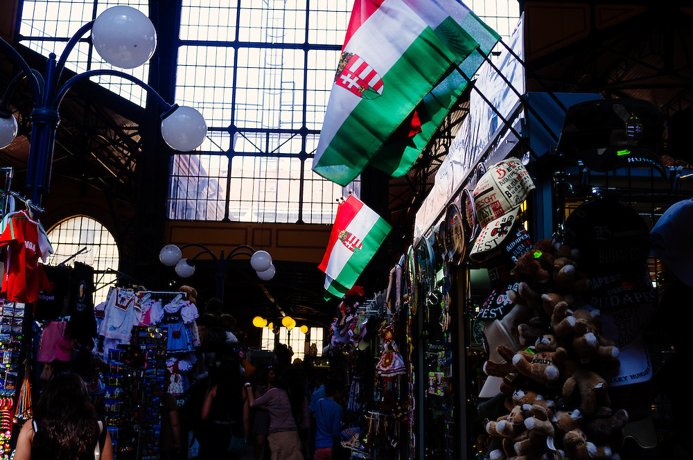 Flags in the Great Market Hall