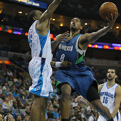 08 February 2009: Minnesota Timberwolves forward Ryan Gomes (8) shoots over New Orleans Hornets guard Rasual Butler (45) during a 101-97 win by the New Orleans Hornets over the Minnesota Timberwolves at the New Orleans Arena in New Orleans, LA.
