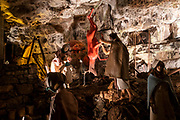 A display of Iron Age dwellings in Dan yr Ogof Cave in the National Showcaves Centre for Wales, Abercrave, Swansea, Wales, UK.  It is a 17-kilometre cave system in South Wales.  (photo by Andrew Aitchison / In pictures via Getty Images)