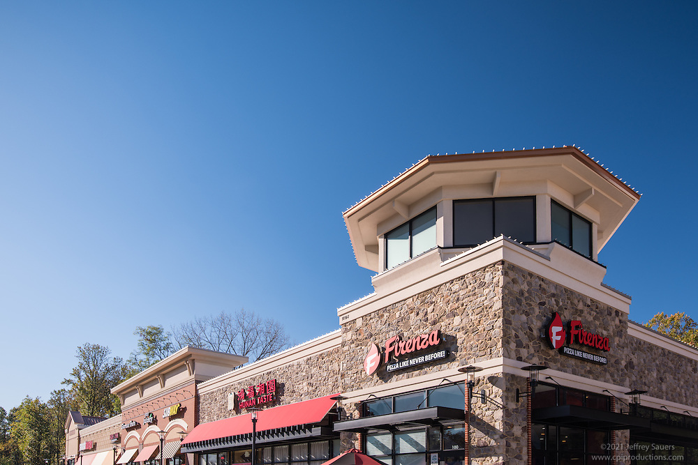 Exterior photo of Boulevard Marketplace in Fairfax Virginia by Jeffrey Sauers of Commercial Photographics, Architectural Photo Artistry in Washington DC, Virginia to Florida and PA to New England