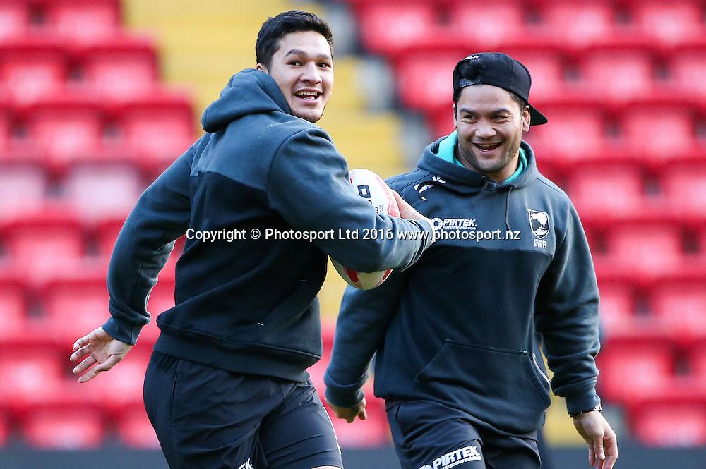 19/11/2016 - Rugby League - Ladbrokes Four Nations Final Preview - Australia v New Zealand - Anfield, Liverpool, England - New Zealand's Dallin Watene-Zelezniak.<br /> Copyright photo: Alex Whitehead / www.photosport.nz