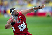 Reese Hoffa from USA competes in men's shot put qualification during the 14th IAAF World Athletics Championships at the Luzhniki stadium in Moscow on August 15, 2013.<br /> <br /> Russian Federation, Moscow, August 15, 2013<br /> <br /> Picture also available in RAW (NEF) or TIFF format on special request.<br /> <br /> For editorial use only. Any commercial or promotional use requires permission.<br /> <br /> Mandatory credit:<br /> Photo by &copy; Adam Nurkiewicz / Mediasport