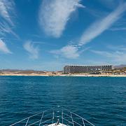 Grand Velas Los Cabos hotel from yacht. Los cabos, BCS.