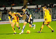Cambridge Utd's Ben Williamson, Plymouth Argyle's Carl McHugh and Cambridge Utd's Luke Berry during the Sky Bet League 2 match between Plymouth Argyle and Cambridge United at Home Park, Plymouth, England on 12 December 2015. Photo by Graham Hunt.