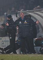 Photo: Alan Crowhurst.<br />Wycombe Wanderers v Rochdale. Coca Cola League 2.<br />10/12/2005. <br />John Gorman shows his feeling.