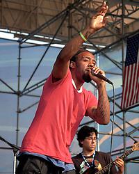 Riverstage, Great Plaza of Penn's Landing, Philadelphia, PA - September 2&3, 2011; Hip Hop performer Kuf Knotz fronted a live band at Penn's Landing.
