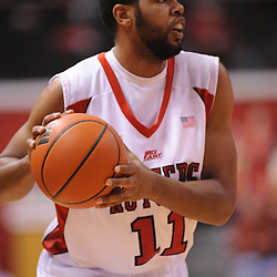 Jan 31, 2009; Piscataway, NJ, USA; Rutgers guard Earl Pettis (11) during the first half of Rutgers vs. DePaul in NCAA college basketball at the Louis Brown Athletic Center