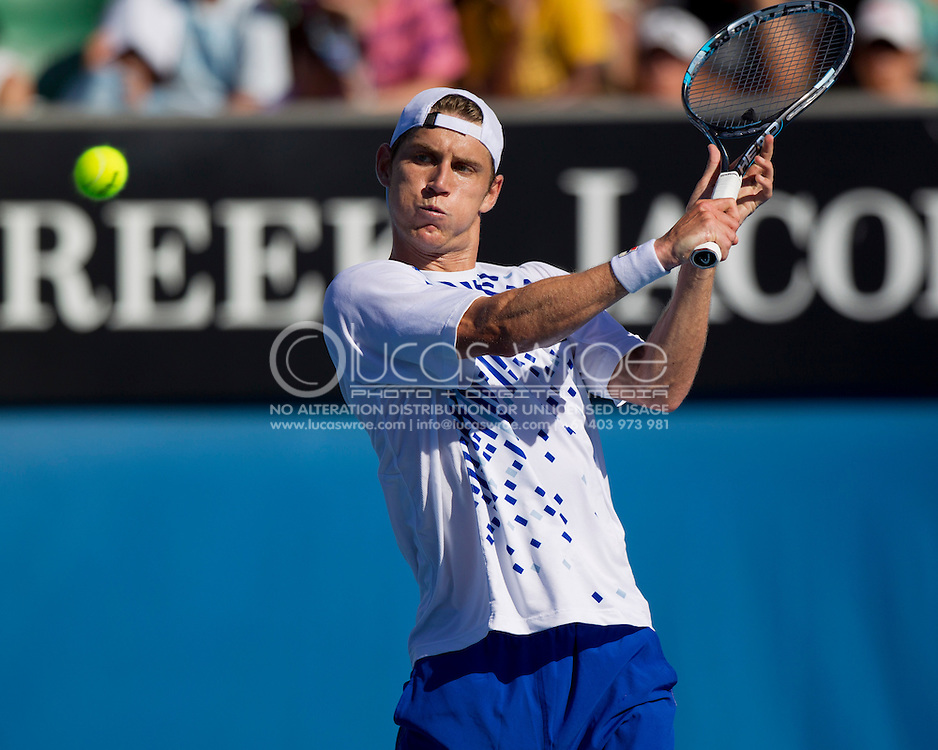 Matthew Ebden (AUS). 2012 Australian Open Tennis. Mens Singles. Second Round. Margaret Court Arena, Melbourne and Olympic Parks, Melbourne, Victoria, Australia. 19/01/2012. Photo By Lucas Wroe