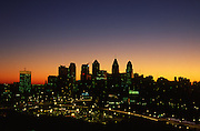 Philadelphia Skyline, Sunrise Silhouette from University of PA Hospital