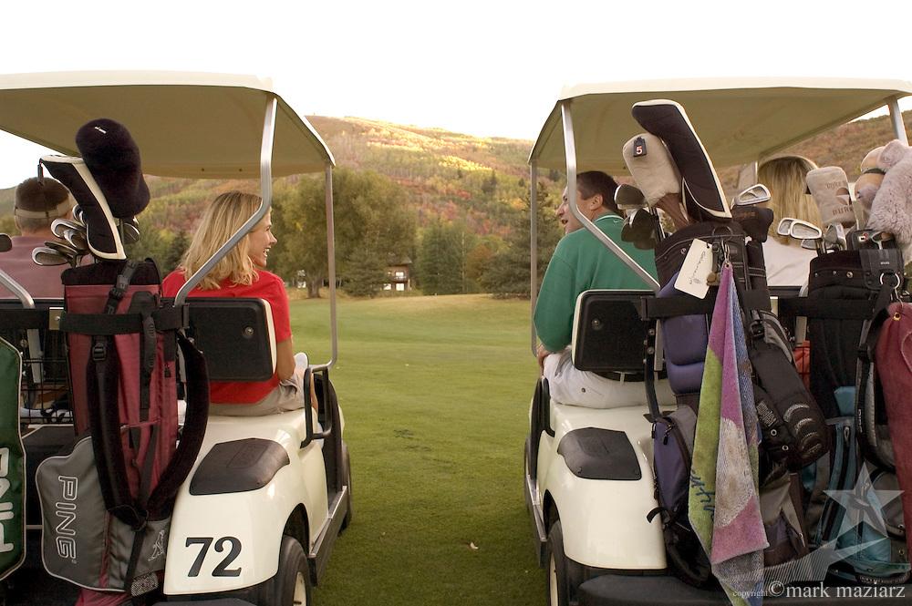 foursome golfing at Park City Golf Course