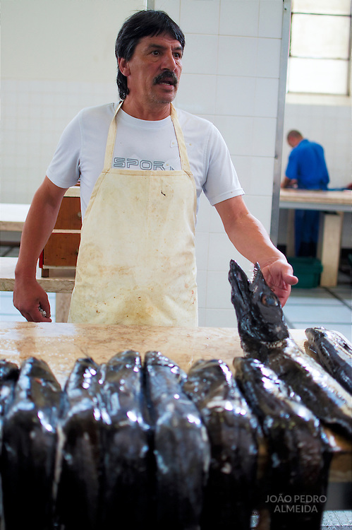 Fishmonger at Funchal's Farmer's Market