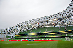 DUBLIN, REPUBLIC OF IRELAND - Friday, May 27, 2011: Wales take on Northern Ireland in front of only 529 spectators during the Carling Nations Cup match at the Aviva Stadium (Lansdowne Road). (Photo by David Rawcliffe/Propaganda)