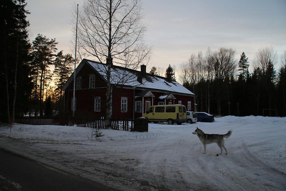 La maison de Juha Jarvinen, l'une des 2 000 personnes qui reçoit le revenu de base, chez lui à Kesti