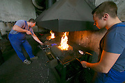 Vienna, Austria. Veterinärmedizinische Universität Wien (Vetmeduni Vienna).<br /> The blacksmiths at the Department/Clinic for Companion Animals and Horses (Department/Universitätsklinik für Nutztiere und öffentliches Gesundheitswesen in der Veterinärmedizin).<br /> FREE ONLY FOR VETMEDUNI INTERNAL USE - ALL OTHERS MUST ACQUIRE PUBLICATION RIGHTS FROM HEIMO AGA!