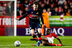 Ben Whiteman of Doncaster Rovers is tackled by Joe Aribo of Charlton Athletic - Mandatory by-line: Robbie Stephenson/JMP - 17/05/2019 - FOOTBALL - The Valley - Charlton, London, England - Charlton Athletic v Doncaster Rovers - Sky Bet League One Play-off Semi-Final 2nd Leg