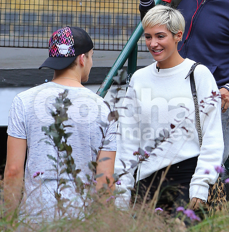 Strictly Come Dancing partners AJ Pritchard and Mollie King get a visit from Mollie's band member and good friend Frankie Bridge. The trio went for a sport of lunch in London. Frankie was also a Strictly Come Dancing contestant in 2014, so should have some good advice for Mollie... 11/10/2017<br />