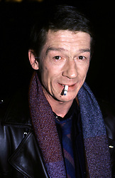 Sir JOHN HURT, CBE (22 January 1940 - 25 January 2017) was an English actor and voice actor whose career spanned six decades. He is know for his roles in: 'A Man for All Seasons' (1966), 'The Elephant Man' (1980), 'Nineteen Eighty-Four' (1984), 'The Hit' (1984), 'Scandal' (1989), 'The Naked Civil Servant' (1975), 'I, Claudius' (1976). and 'Doctor Who: Day of the Doctor' (2013). His character's final scene in 'Alien' has been named by a number of publications as one of the most memorable in cinematic history. He received two Academy Award nominations, a Golden Globe Award and four BAFTA Awards. He was knighted in 2015. PICTURED: Jan 15, 1985 - New York, New York, U.S. - JOHN HURT photographed at the NBC Building. (Credit Image: © McBride/face to face/ZUMA Wire)