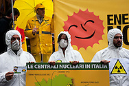 "Roma 16 Marzo 2011.Piazza della Rotonda al Pantheon.Manifestazione dei Verdi per denunciare la pericolosità delle scelte del Governo di un ritorno al nucleare in Italia.Partecipano all'iniziativa due cittadini giapponesi,Tsuboi Susumu di Hiroshima, 83 anni,  e Hiroshi Suenaga di Nagasaki, 75 anni. sopravvissuti alle bombe atomiche sganciate su Hiroshima e Nagasaki dagli americani alla fine della Seconda Guerra Mondiale. I due giapponesi stanno facendo il giro del mondo con la nave ""Peace Now""  per dire no al nucleare...Rome March 16, 2011.Al Pantheon Piazza della Rotonda.Demonstration of the Greens pointed out the dangerousness of the government's choice of a return to nuclear power in Italy. Participating two Japanese citizens of Hiroshima Susumu Tsuboi, 83 years, Hiroshi Suenaga and Nagasaki 75 years. survived the atomic bombs dropped on Hiroshima and Nagasaki by the Americans at the end of Second World War. The two Japanese are doing around the world with the ship ""Peace Now""to say no to nuclear."