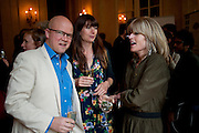 TOBY YOUNG; CAROLINE BONDY; RACHEL JOHNSON,  Imogen Edwards-Jones - book launch party for ' Hospital Confidential' Mandarin Oriental Hyde Park, 66 Knightsbridge, London, 11 May 2011. <br />  <br /> -DO NOT ARCHIVE-© Copyright Photograph by Dafydd Jones. 248 Clapham Rd. London SW9 0PZ. Tel 0207 820 0771. www.dafjones.com.
