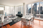 A model apartment at 306 West 48th Street in New York City