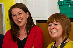 Pictured: Aileen Campbell and Ripple Director Fiona Cross<br /> <br /> Public Health Minister Aileen Campbell and Cosla health and social care spokesman Peter Johnston visited the Ripple project in Edinburgh today to launch their joint launch public health priorities for Scotland<br /> <br /> Ger Harley | EEm 14 June 2018