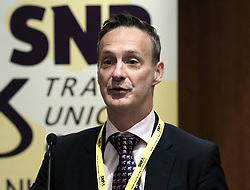 SNP Spring Conference, Saturday 27th April 2019<br /> <br /> SNP Trades Union Group fringe meeting<br /> <br /> The Scottish Trade Union campaign to tackle Corporate Homicide is as old as the Scottish Parliament.  From 2006 the received wisdom has been because any Act would relate to H&S, which is not devolved, the Scottish Parliament may not have legislative competence.<br /> <br /> This view was clearly politically motivated at the time but it has remained received wisdom within the civil service.<br /> <br /> The Trade Unions' campaign however will not go away.  Trade Unions' believe there is a solution using a previously untested section of the Scotland Act.<br /> <br /> We call upon the political will of the Scottish Government to look at this alternative and right the political wrongs of previous Scottish Executives - it is a win-win.<br /> <br /> This is arranged jointly by the TUG and Scottish Hazards and the Speakers are:<br /> <br /> Patrick McGuire, Legal Advisor to Scottish Hazards<br /> <br /> Lynn Henderson,  Past President, Scottish Trades Union Congress<br /> <br /> Chris Stephens MP, Shadow SNP Spokesperson (Fair Work and Employment)<br /> <br /> Chair:  Greg McCarra, Convener, SNP Trade Union Group<br /> <br /> Pictured:  Patrick McGuire<br /> <br /> Alex Todd | Edinburgh Elite media