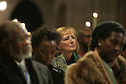 December 11, 2013-New York, NY:  Guests & Audience attend the Nelson Mandela Commemorative Memorial service held at the Riverside Church on December 11, 2013 in New York City. Nelson Rolihlahla Mandela was inaugurated as the first black President of a democratic South Africa on May 10, 1994 bringing democracy and ending the oppressive rule of apartheid . (Terrence Jennings)