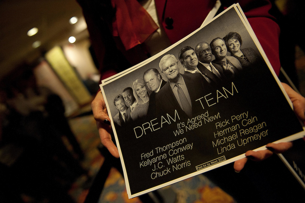 Newt Gingrich announced the Dream Team during Day 2 of the CPAC Conference.