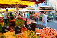 Market in the city of Apt, Provence,France