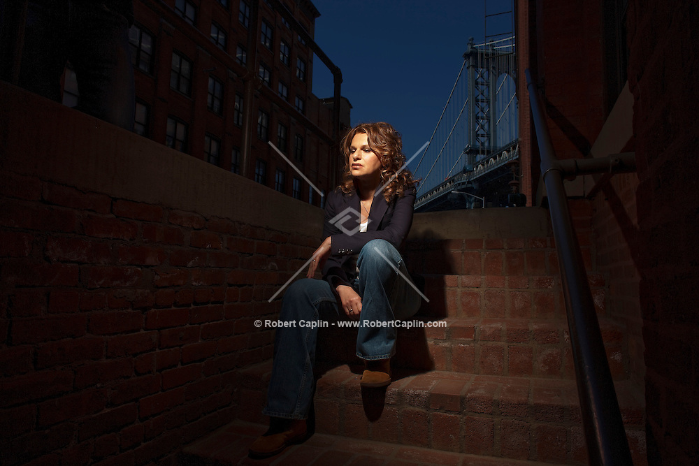 Sandra Bernhardt poses for a portrait in New York, NY on Tuesday, March 31, 2009. .