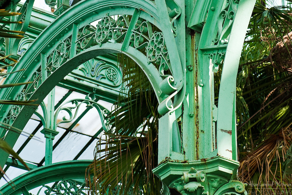 Art Deco Interior detail of the Royal Belgian Greenhouse Architecture.