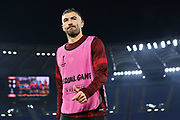 Aleksandar Kolarov of Roma at the end of the warm up before the UEFA Europa League, Group J football match between AS Roma and Wolfsberg AC on December 12, 2019 at Stadio Olimpico in Rome, Italy - Photo Federico Proietti / ProSportsImages / DPPI