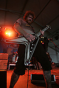 Brent Hinds of Mastodon performs during the third day of the 2008 Bonnaroo Music & Arts Festival on June 14, 2008 in Manchester, Tennessee. The four-day music festival features a variety of musical acts, arts and comedians..Photo by Bryan Rinnert