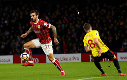 Marlon Pack of Bristol City controls the ball - Mandatory by-line: Robbie Stephenson/JMP - 06/01/2018 - FOOTBALL - Vicarage Road - Watford, England - Watford v Bristol City - Emirates FA Cup third round proper