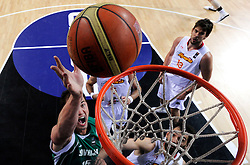 Primoz Brezec of Slovenia during the fifth-place basketball match between National teams of Slovenia and Spain at 2010 FIBA World Championships on September 10, 2010 at the Sinan Erdem Dome in Istanbul, Turkey.   (Photo By Vid Ponikvar / Sportida.com)