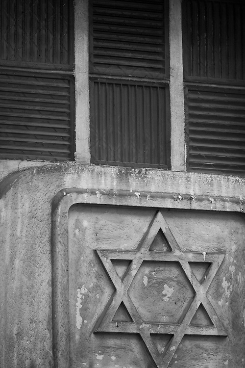 "Black and white photograph of the star of David in Paris by Karl R Lilliendahl. This photo is available as Open and Limited Edition Giclee Print in four different sizes. Click on ""Get Print"" to see more details."