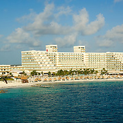 Aerial view of hotel Riu  Cancun. Quintana Roo, Mexico.
